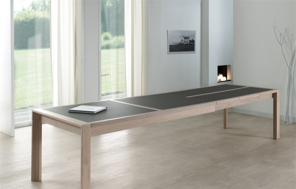 Table rect. 200(350)x100 E8 N°3 verre taupe 3 all. (1)