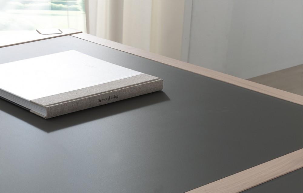 Table rect. détail verre taupe (1)